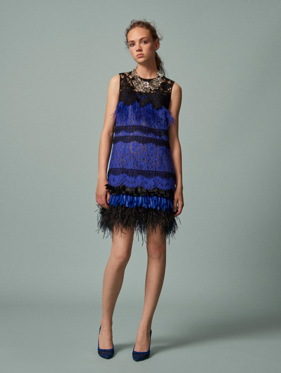 oscar-de-la-renta-resort-2016-fashion-collection-dress-outfit (4)-blue-lace-fringe