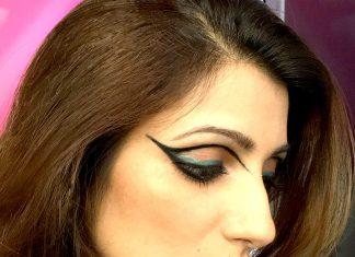 shilpa-ahuja-mac-collab-eye-makeup-extended-wing-eyeliner-black-twist-kajal-fashion-blogger