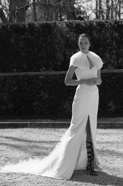 Latest-trends-bridal-gowns-designer-lela-rose-strapless-top-pant-style-2016
