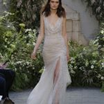 Top-trends-bridal-gowns-thigh-high-slit-cream-color-sequin-designer-Monique- Ihuillier -2016
