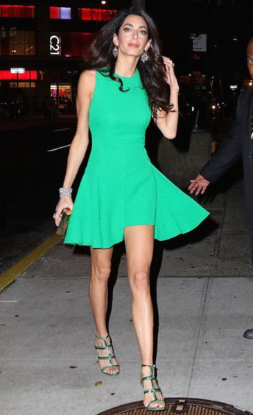 amal-clooney-green-dress-street-style-latest-celeb-fashion
