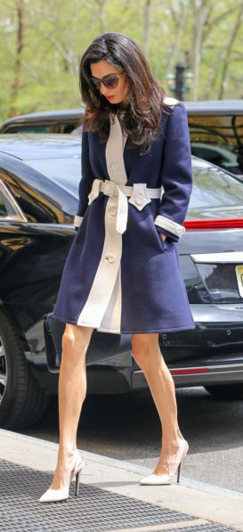 amal-clooney-street-style-best-blue-white-stripe-dress-coat-winter-pumps