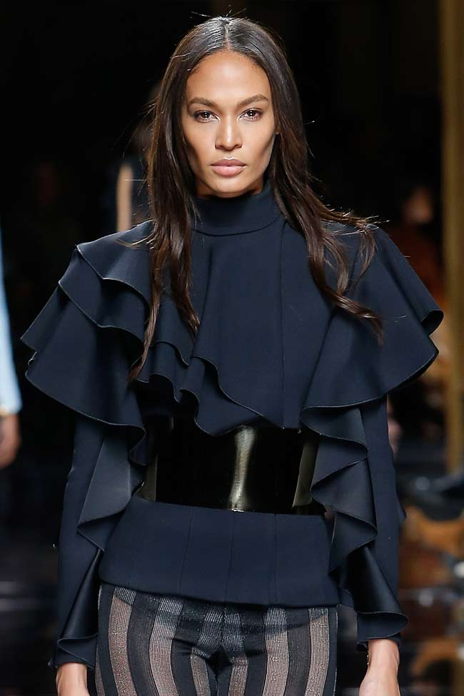 balmain-ruffle-top-fw16-fall-winter-2016-latest-fashion-trends