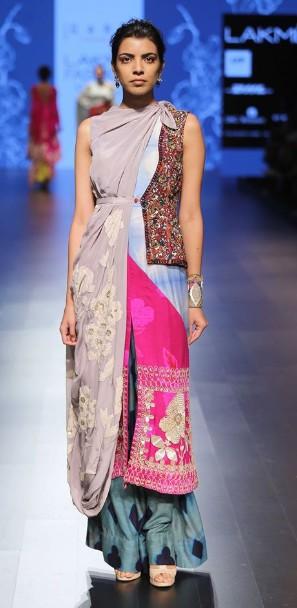 best-indian-suit-trends-designs-garo-slit-top-loose-pant-dupatta-2016