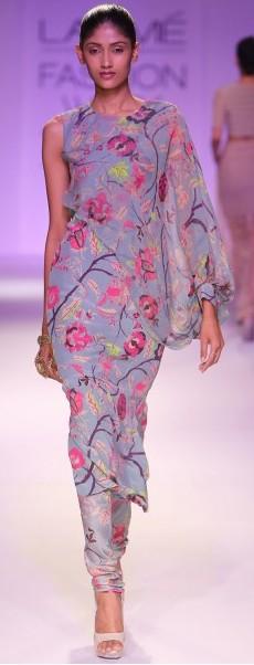 best-indian-suit-trends-designs-payal-singhal-one-shoulder-printed-top-2016