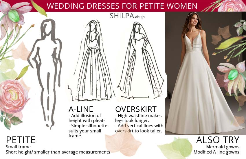 bridal gowns-for-petite-wedding-body-type-women