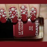 bridal-nail-art-2016-pearl-red-nail-paint-chanel