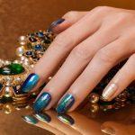 bridal-nail-art-tren-latest-2016-opi-venetian-blue-nail-designs-wedding-gol