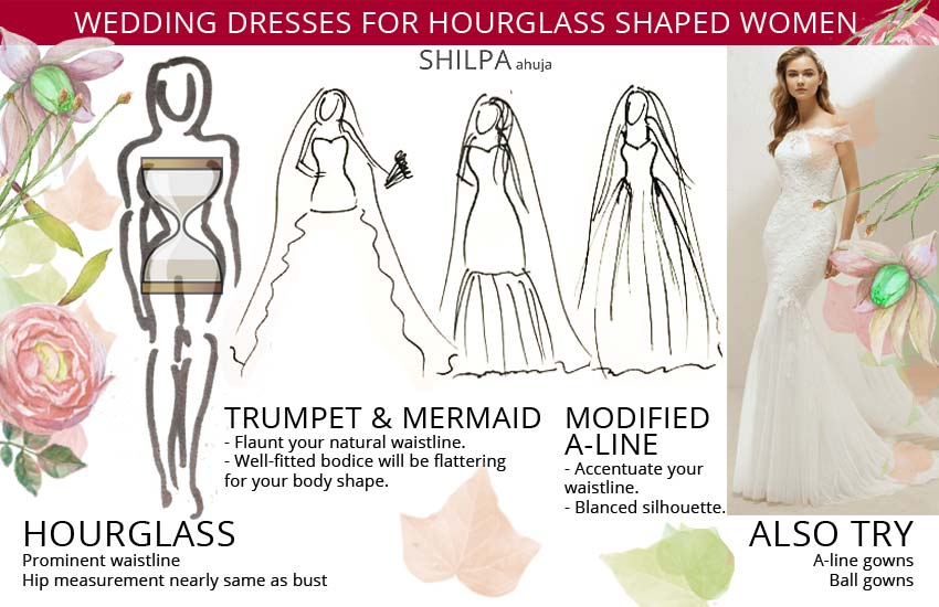 bridal wedding-dresses-for-hourglass-shaped-body-type-women