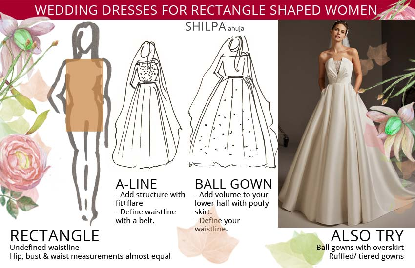 bridal wedding-dresses-for-rect-shaped-body-type-women