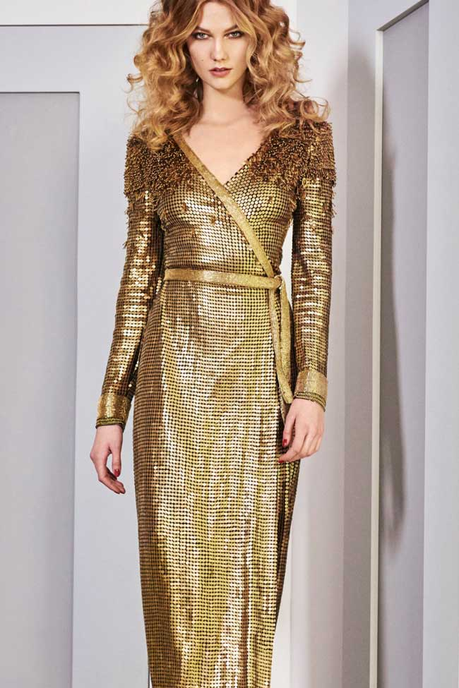 dvf-sequin-diane-von-furstenberg-gold-metallic-dress-fw16-fall-winter-2016-karlie-kloss