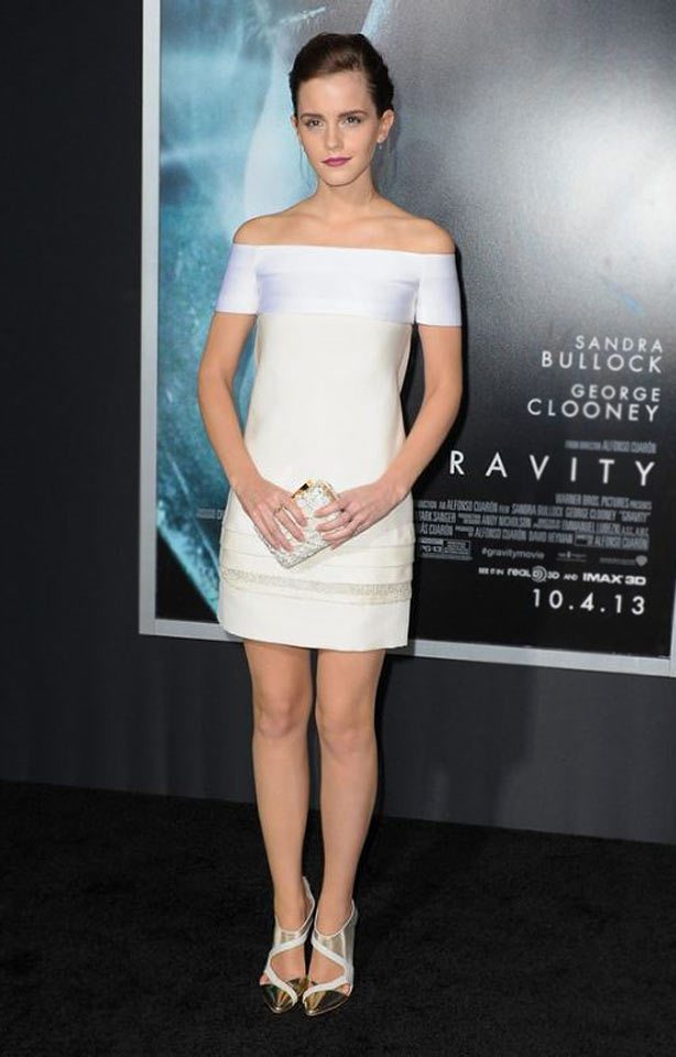 how-to-wear-off-shoulder-dress-emma-watson-red-carpet-white-party-cocktail