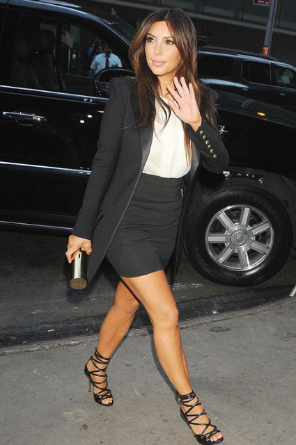 how-to-wear-womens-tux-ladies-tuxedo-kim-kardashian-peplum-skirt