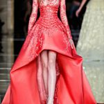 latest-Long-evening-gowns-sheer-designer-zuhair-murai-crimson-red-silk--satin-leather--cage-corset--belt-asymettric-2016