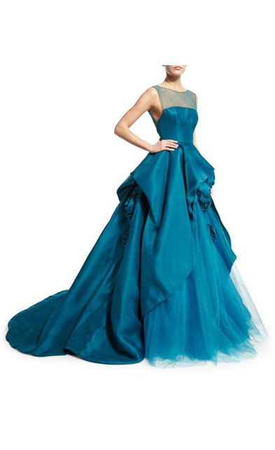 Latest Designer Dress Ball Gown Sheer Tulle