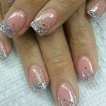 latest-nail-art-collection-bridal-2016-silver-glitter-peach-wedding