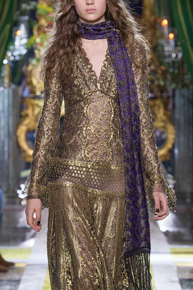 roberto-cavalli-brass-gold-metallic-dress-fw16-fall-winter-2016-latest-fashion-trends