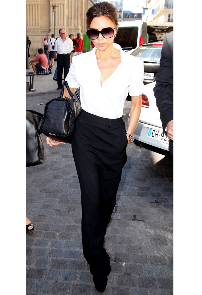 victoria-beckham-long-skirt-white-shirt-formal-office-wear-advice-how-to-wear-long-skirt