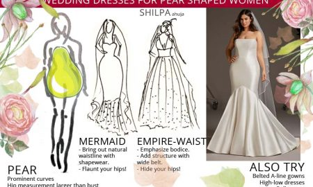 wedding-bridal gowns for-pear-shaped-body-type-women