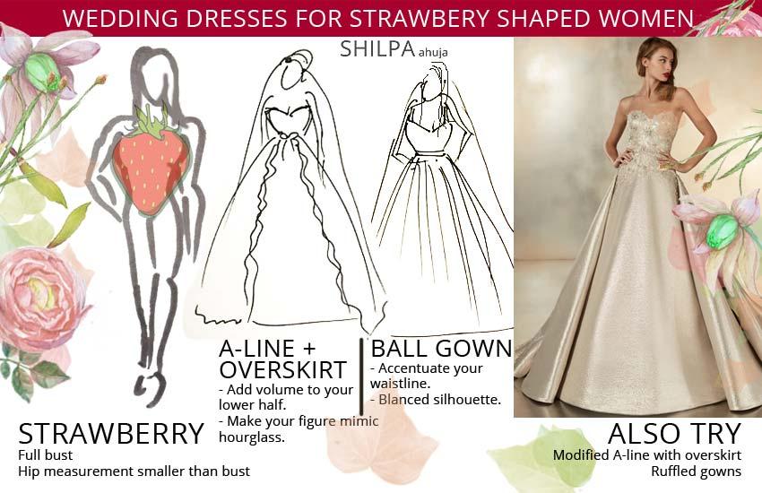 wedding dress styles-ideas-for-strawberry-shaped-body-type-women
