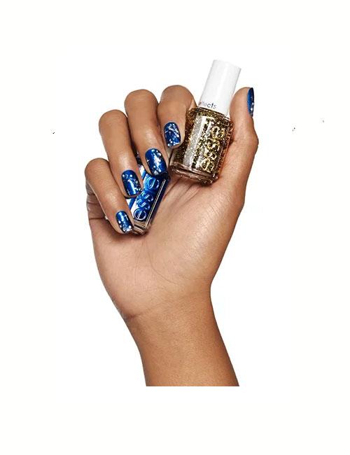 wedding-nail-art-ideas-2016-essie-blue-gold-latest
