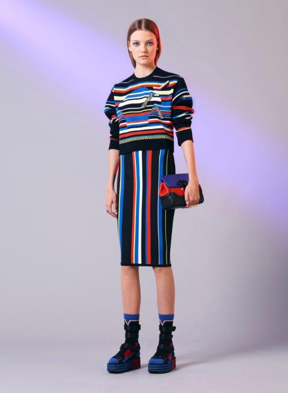 07_Versace_Women's_Pre-ss17-striped-blue-black-red-skirt-handbag-martini-racing-color