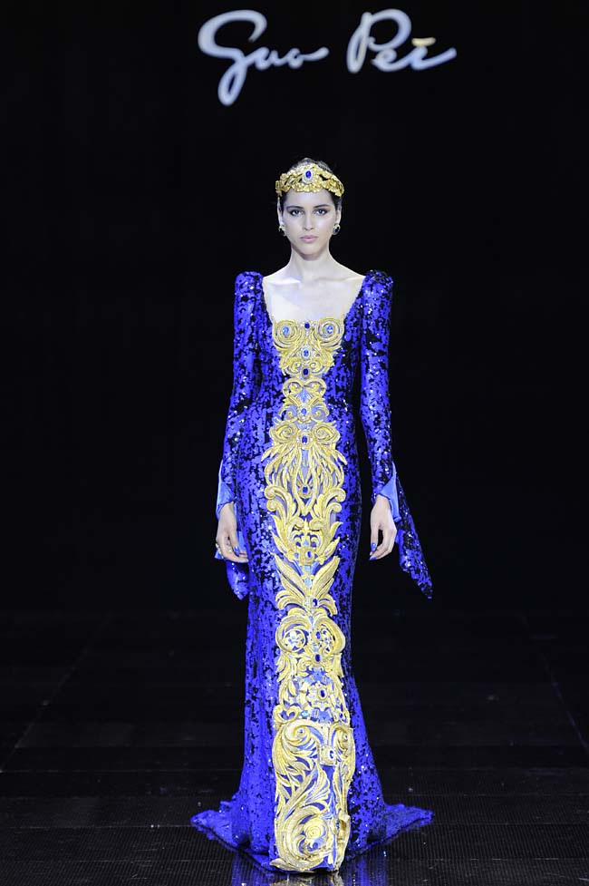 43-guo-pei-fw16-haute-couture-blue-sequin-with-gold-embroidery-dress-fall-winter-2016-17-gown