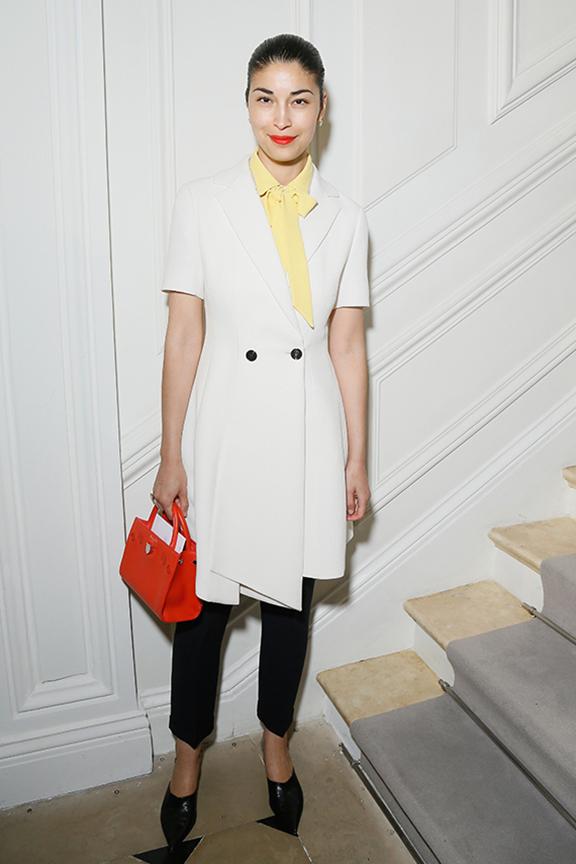 Caroline-Issa-dior-fall-winter-2016-17-celebrity-styles-red-handbag