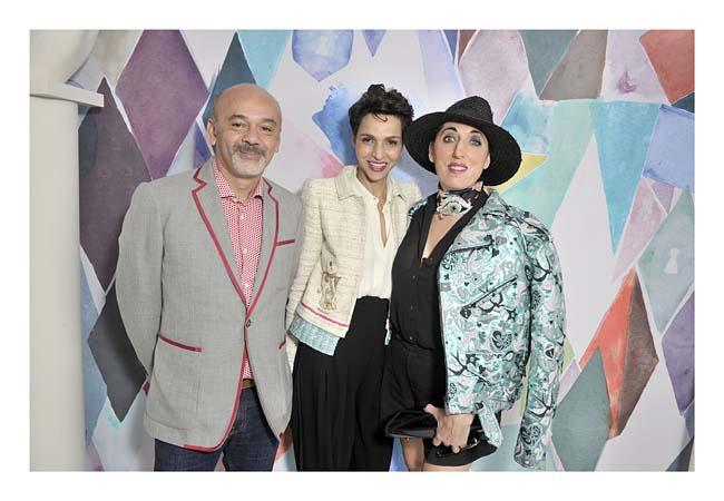 Christian- Louboutin-Farida- Khelfa & Rossy-de -Palma-schiaparelli-couture-fashion-show-fall-winter-2016-17-celebrities-pfw