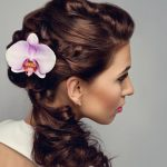 best-twirled-curls-hair-styling-for-wedding-guest-lakme-updo-at-top-and-curls-at-back