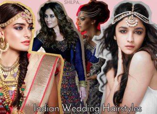 indian-wedding-hairstyles-reception-hair-styles-hairdo-bun-braid-curls-bridal