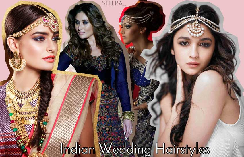 indian-wedding-hairstyles-reception-hairstyles-hairdo-bun-braid-curls-bridal