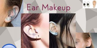 latest-trend-ear-makeup-2016-ideas-fall-winter-glitter