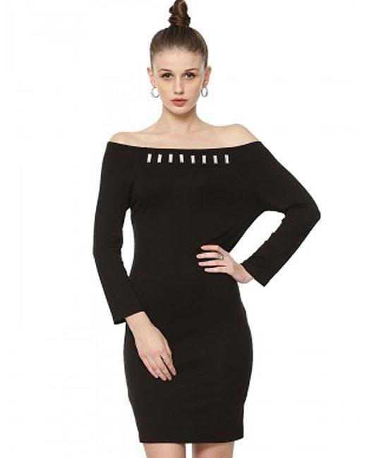 off-shoulder-black-dress-shopping-india-best-koovs