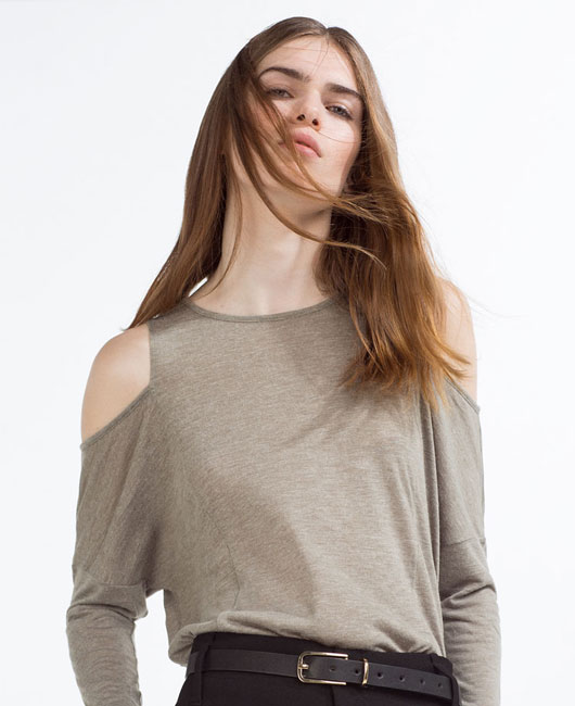 off-shoulder-full-sleeves-tee-shoulder-cut-zara-womens-ladies-tshirts-online-shopping-purchase