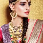 top-ethinic-look-for-indian-wedding-guest-classic-braid-bridal-style-wear-to-reception