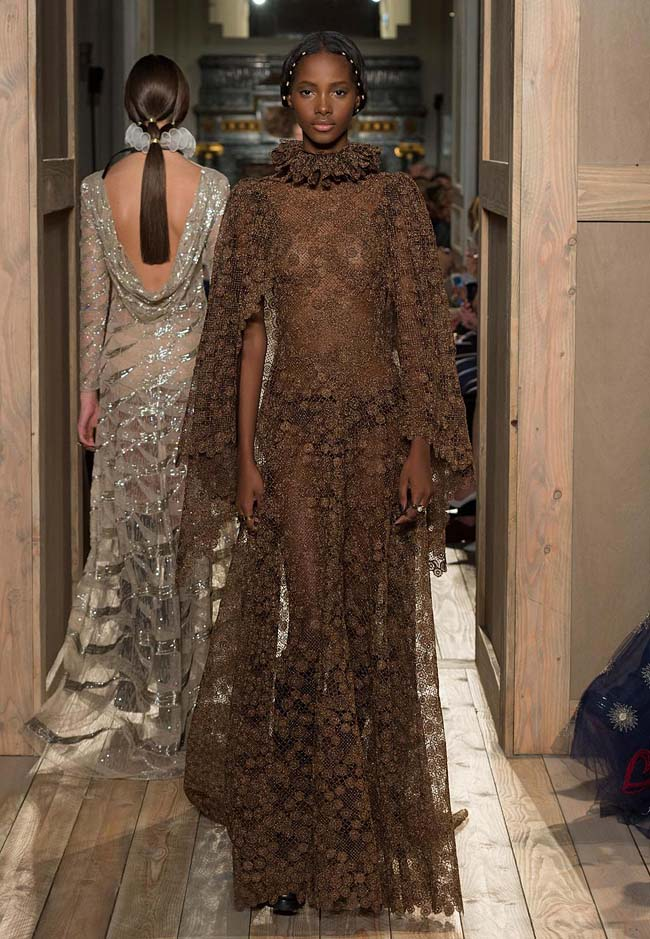 valentino-fall-winter-2016-couture-fashion-show-collection (51)-floral-brown-gown-long-latest