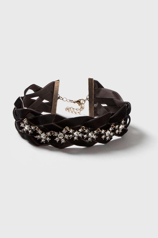 Lattice-Rhinestone Choker-black-chokers-necklace-best-90's-women-accessory