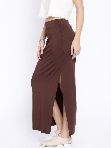 brown-maxi-skirt-long-slit-women-top-online-shopping-casual-ladies