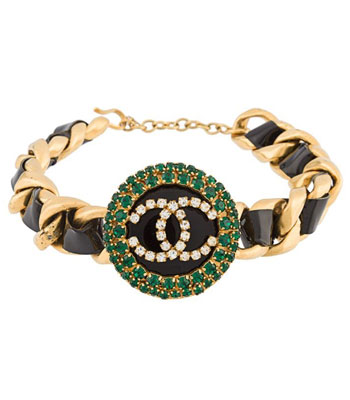 chanel-vintage-chokers-necklace-latest-2016-gold-black-green-stones-strech