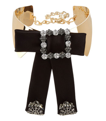 dolce-gabbana-black-gold-choker-bow-womens-jewelry-party-wear