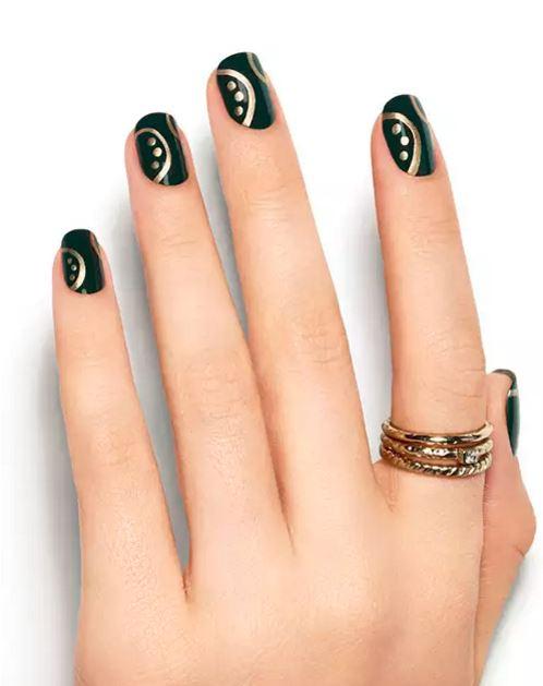 essie-latest-black-nail-art-designs-2016-nails-ideas-silver