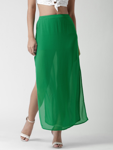 forever21-green-slit-skirt-casual-best-shopping-online-india