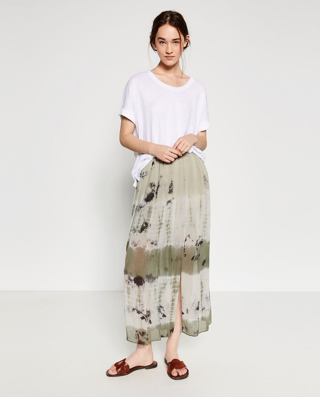 long-slit-skirts-zara-tie-dye-womens-latest-online-shopping