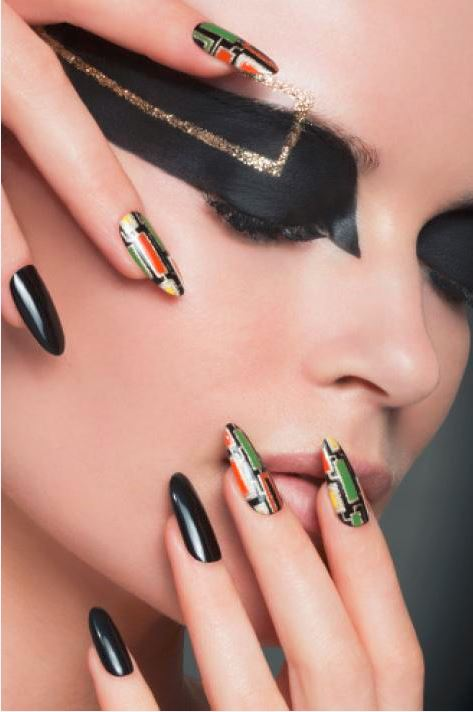 opi-black-nail-art-designs-latest-2016-nails-ideas-colorful-modern