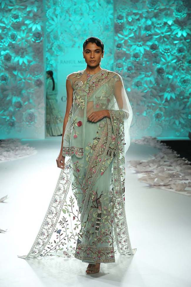rahul-mishra-collection-2016-inspired-by-nature-sea-blue-sheer-saree-draped-couture-dresses-icw16 (9)
