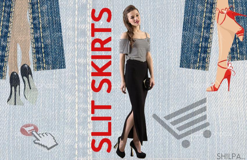 slit-skirts-online-shopping-india-women-latest