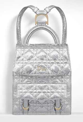 best-stardust-back-pack-dior-metallic-silver-ceramic-effect-fall-handbag-trends-2016