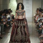 designer-manav-gangwani-actress-kangana-ranaut-burgundy-color-bridal-lehenga