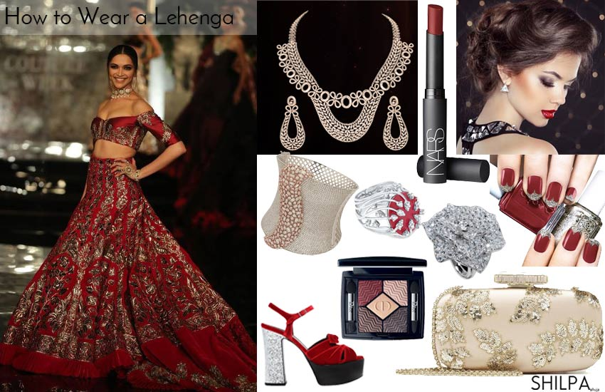 38fa99f2ddc2 How to Wear Lehenga  Accessorizing a Red Bridal Lehenga